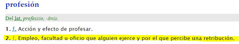 profesion_definicion RAE