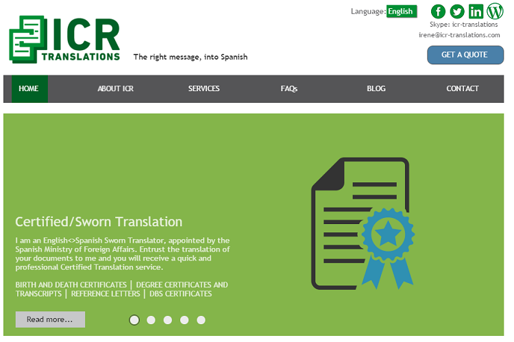 choosing images for your website - ICR Translations