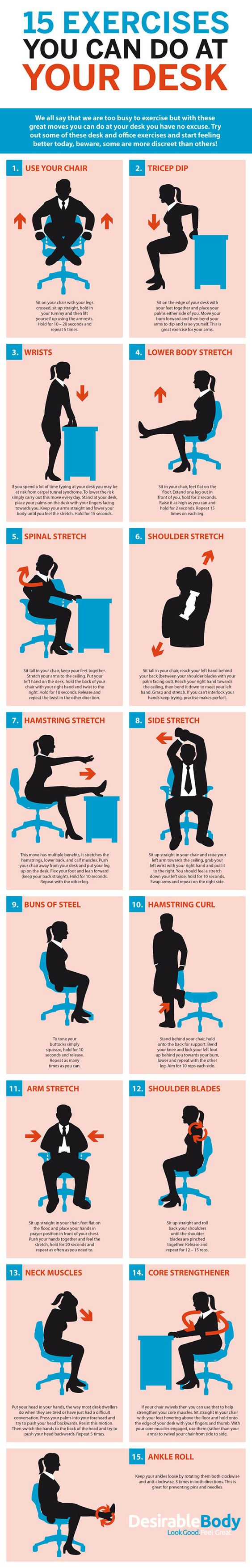 Desk-based exercises