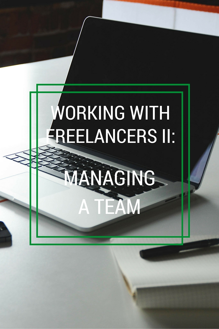 managing a team of freelancers